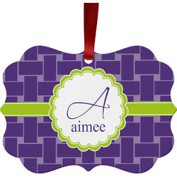 Waffle Weave Ornament (Personalized)