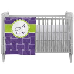 Waffle Weave Crib Comforter / Quilt (Personalized)