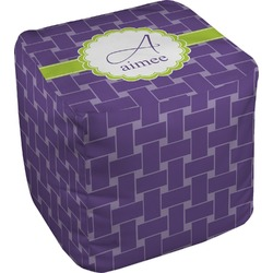 Waffle Weave Cube Pouf Ottoman (Personalized)