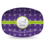 Waffle Weave Plastic Platter - Microwave & Oven Safe Composite Polymer (Personalized)