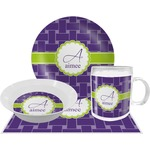 Waffle Weave Dinner Set - 4 Pc (Personalized)