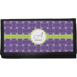 Waffle Weave Canvas Checkbook Cover (Personalized)