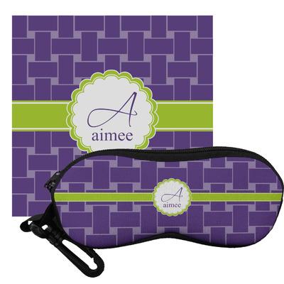 Waffle Weave Eyeglass Case & Cloth (Personalized)