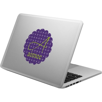 Waffle Weave Laptop Decal (Personalized)