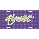 Waffle Weave Front License Plate (Personalized)