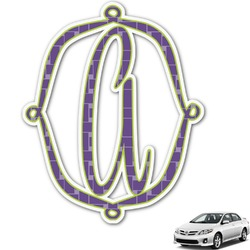 Waffle Weave Monogram Car Decal (Personalized)