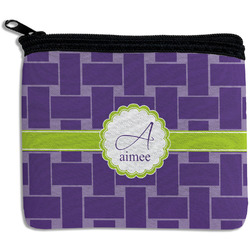 Waffle Weave Rectangular Coin Purse (Personalized)