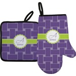 Waffle Weave Oven Mitt & Pot Holder (Personalized)