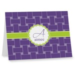 Waffle Weave Note cards (Personalized)