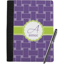 Waffle Weave Notebook Padfolio (Personalized)