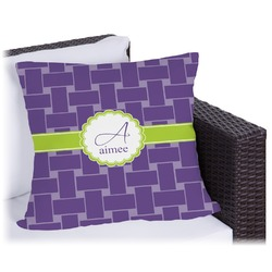 """Waffle Weave Outdoor Pillow - 18"""" (Personalized)"""
