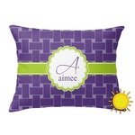 Waffle Weave Outdoor Throw Pillow (Rectangular) (Personalized)