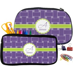 Waffle Weave Pencil / School Supplies Bag (Personalized)
