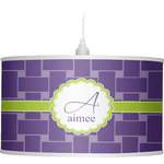 Waffle Weave Drum Pendant Lamp (Personalized)