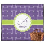 Waffle Weave Outdoor Picnic Blanket (Personalized)