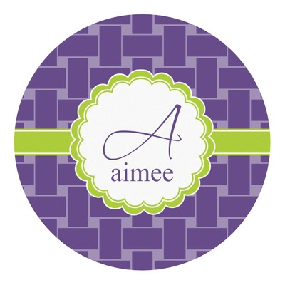 Waffle Weave Round Decal (Personalized)