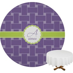 Waffle Weave Round Tablecloth (Personalized)