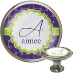 Waffle Weave Cabinet Knob (Silver) (Personalized)