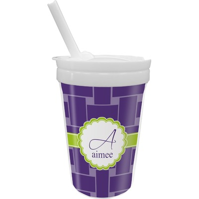 Waffle Weave Sippy Cup with Straw (Personalized)