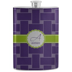 Waffle Weave Stainless Steel Flask (Personalized)