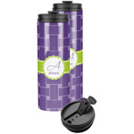 Waffle Weave Stainless Steel Skinny Tumbler (Personalized)