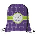 Waffle Weave Drawstring Backpack (Personalized)