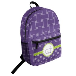 Waffle Weave Student Backpack (Personalized)