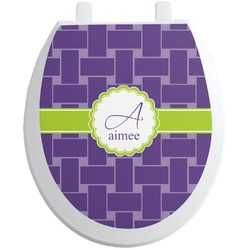 Waffle Weave Toilet Seat Decal (Personalized)