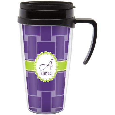 Waffle Weave Travel Mug with Handle (Personalized)