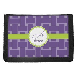 Waffle Weave Trifold Wallet (Personalized)