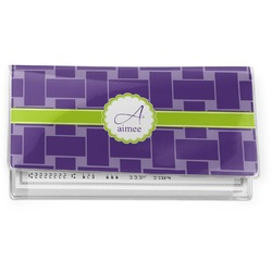 Waffle Weave Vinyl Checkbook Cover (Personalized)