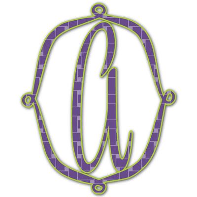 Waffle Weave Monogram Decal - Custom Sizes (Personalized)