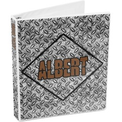 Diamond Plate 3-Ring Binder (Personalized)