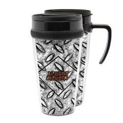 Diamond Plate Acrylic Travel Mugs (Personalized)