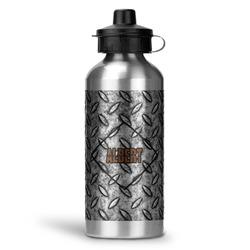 Diamond Plate Water Bottle - Aluminum - 20 oz (Personalized)