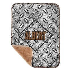 "Diamond Plate Sherpa Baby Blanket 30"" x 40"" (Personalized)"