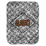 Diamond Plate Baby Swaddling Blanket (Personalized)