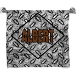 Diamond Plate Full Print Bath Towel (Personalized)