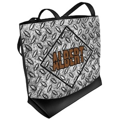 Diamond Plate Beach Tote Bag (Personalized)