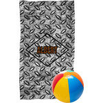 Diamond Plate Beach Towel (Personalized)