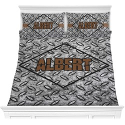 Diamond Plate Comforter Set - Full / Queen (Personalized)