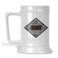 Diamond Plate Beer Stein (Personalized)