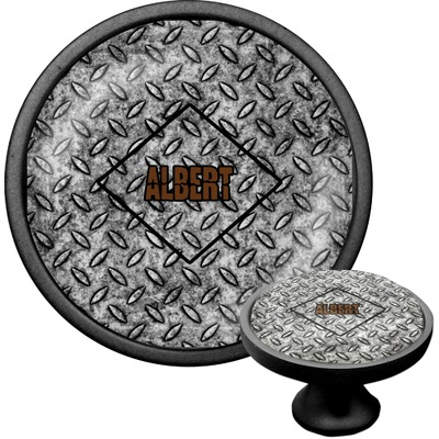 Diamond Plate Cabinet Knob (Black) (Personalized)