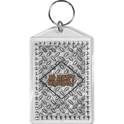Diamond Plate Bling Keychain (Personalized)