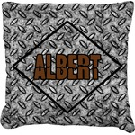 Diamond Plate Faux-Linen Throw Pillow (Personalized)