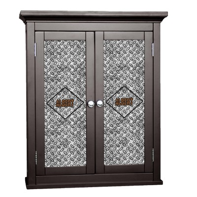 Diamond Plate Cabinet Decal - XLarge (Personalized)