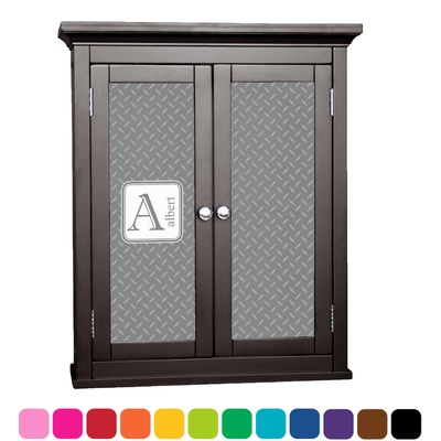 Diamond Plate Cabinet Decal - Large (Personalized)
