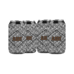 Diamond Plate Can Sleeve (12 oz) (Personalized)