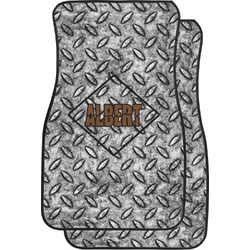 Diamond Plate Car Floor Mats (Front Seat) (Personalized)