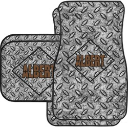 Diamond Plate Car Floor Mats Set - 2 Front & 2 Back (Personalized)